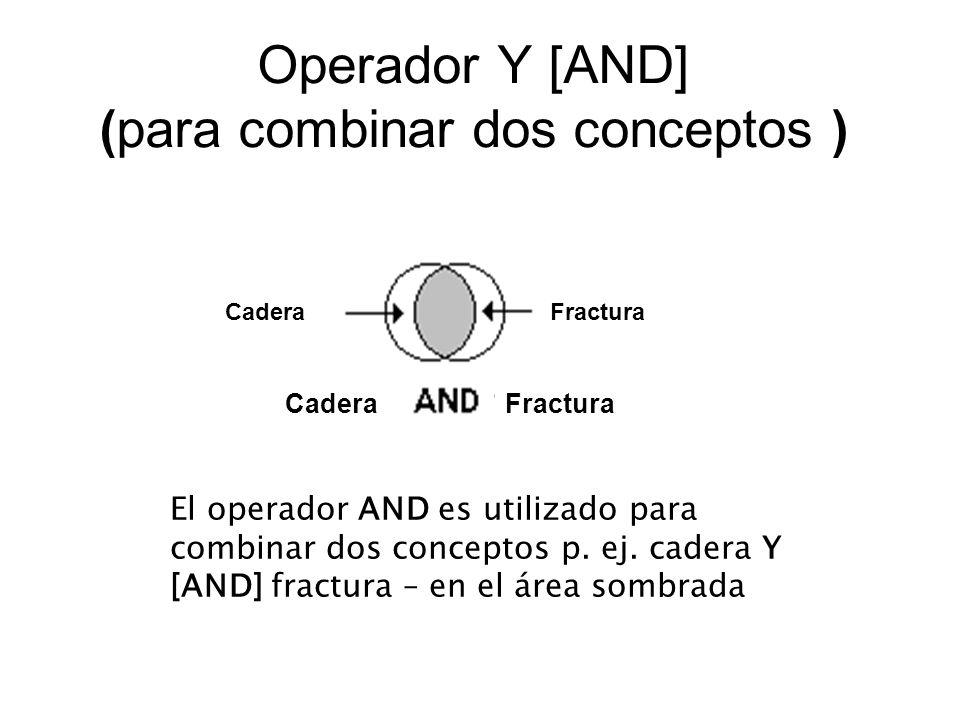 Operador Y [AND] (para combinar dos conceptos )
